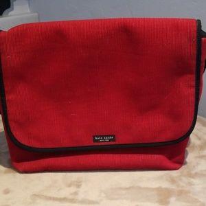 Kate Spade red messenger bag.
